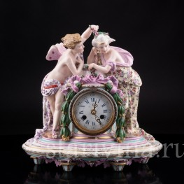 Фарфоровые часы, Samson, Франция, 19 в
